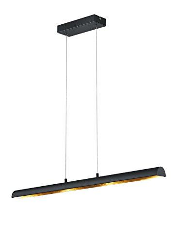 Trio Leuchten LED-Pendelleuchte Ramiro in schwarz matt, innen goldfarbig 376410402