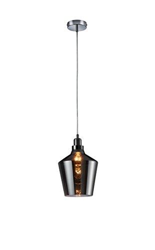 Trio Leuchten Pendel CALAIS, glas smoke, aluminium farbig 304800142