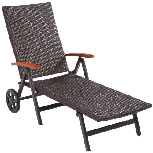 ultranatura polyrattan rollliege mit armlehne palma serie 192 x 107 x 74 cm m bel24. Black Bedroom Furniture Sets. Home Design Ideas
