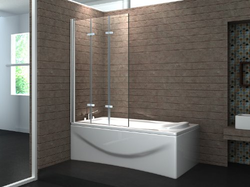valve 130 x 140 cm 3tlg faltwand badewanne echt glas 6 mm duschabtrennung duschwand m bel24. Black Bedroom Furniture Sets. Home Design Ideas