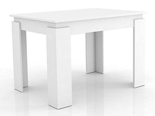 """VCM Esszimmertisch Esstisch Speisetisch Tisch Küche 120x80 cm Weiß """"Vikosa"""""""