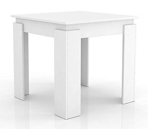 """VCM Esszimmertisch Esstisch Speisetisch Tisch Küche 80x80 cm Weiß """"Vikosa"""""""