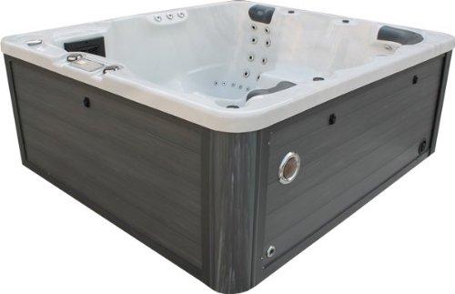 Vasa-Fit, Whirlpool W200, Whirlpool aus hochwertigem Sanitäracryl für 4-6 Personen Sky White