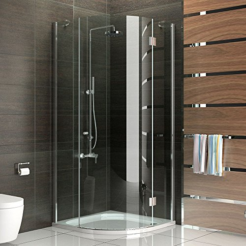 viertelkreis dusche echtglas duschabtrennung glasdusche ca 100 x 100 x 200 cm walk in. Black Bedroom Furniture Sets. Home Design Ideas