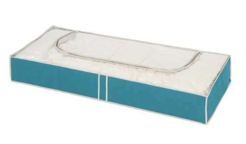 Wenko 4400062100 Unterbettkommode Breeze, Polypropylen-Faserstoff, 103 x 45 x 16 cm, Petrol
