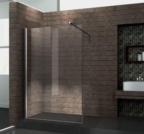 walk in 10 mm duschwand duschabtrennung duschkabine dusche 120x200 cm aquos m bel24. Black Bedroom Furniture Sets. Home Design Ideas