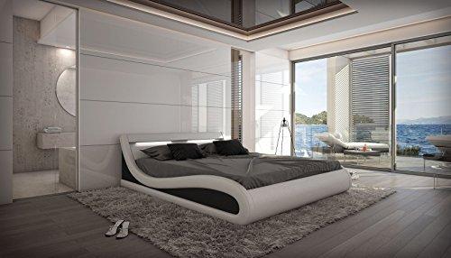 wasserbett caserta led komplett set wei m bel24. Black Bedroom Furniture Sets. Home Design Ideas