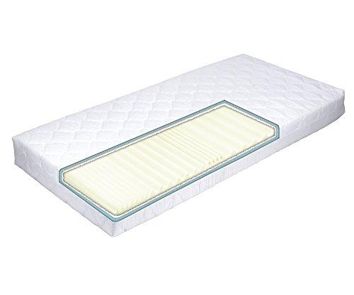 MSS® Aqua VitalFoam® 7 Zonen Matratze - H3 - 190x80 cm / 7 Zonen Wellen Kaltschaum Wellenschnitt mit versteppten Klimafaserbezug waschbar bis 60 Grad / H3