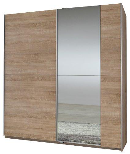 wimex kleiderschrank schwebet renschrank queen 1 spiegel b h t 180 x 198 x 64 cm eiche. Black Bedroom Furniture Sets. Home Design Ideas