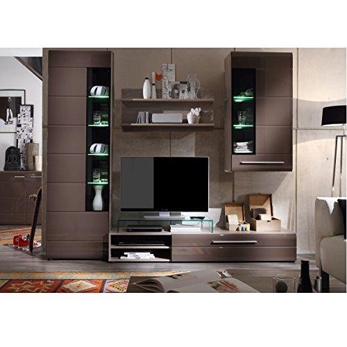 wohnwand alfa trend schrankwand anbauwand wohnzimmer schrank mdf wei dekor m bel24. Black Bedroom Furniture Sets. Home Design Ideas