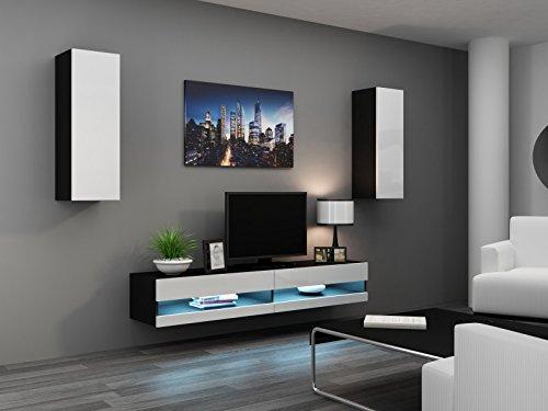 wohnwand vigo new i hochglanz h ngeschrank lowboard. Black Bedroom Furniture Sets. Home Design Ideas