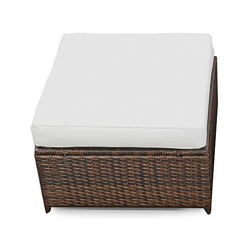 xinro 1er polyrattan lounge hocker gartenm bel hocker rattan durch andere polyrattan lounge. Black Bedroom Furniture Sets. Home Design Ideas