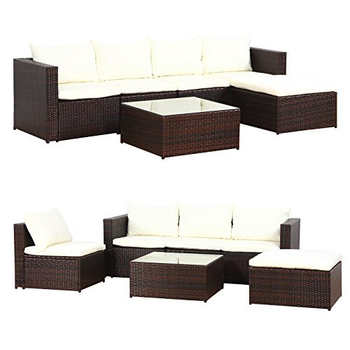 xxl bali poly rattan braun gartenm bel sitzgruppe essgruppe gartenset m bel24. Black Bedroom Furniture Sets. Home Design Ideas