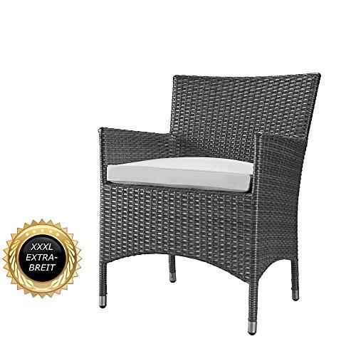 rs trade xxl rattan stuhl bis 200 kg belastbar luxus pur superbequeme edition serie extra. Black Bedroom Furniture Sets. Home Design Ideas