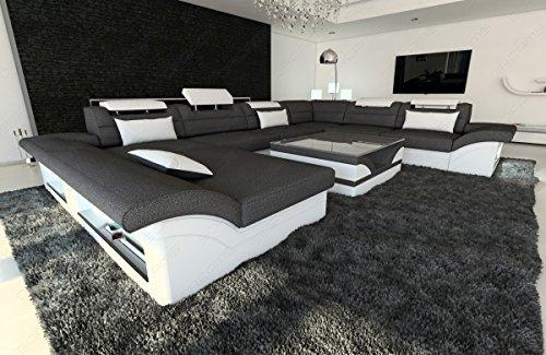 xxl stoffsofa leder stoff mix wohnlandschaft enzo u xxl. Black Bedroom Furniture Sets. Home Design Ideas