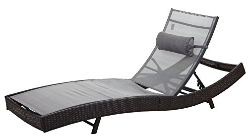 xxl sonnenliege catania relaxliege gartenliege liege poly rattan braun meliert bezug grau 0. Black Bedroom Furniture Sets. Home Design Ideas