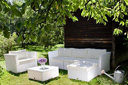 essella Polyrattan Garnitur Venezia in Weiß