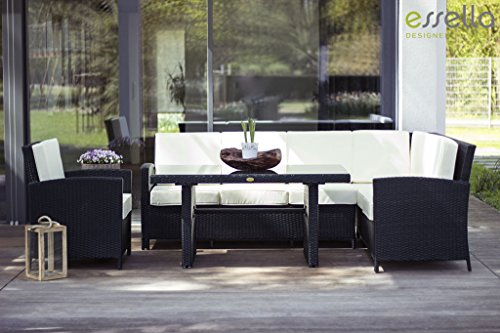 essella polyrattan garten eckbank berlin in schwarz 0. Black Bedroom Furniture Sets. Home Design Ideas