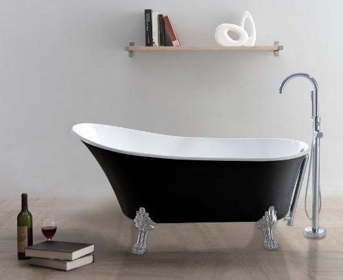 freistehende badewanne classico sw schwarz wei m bel24. Black Bedroom Furniture Sets. Home Design Ideas