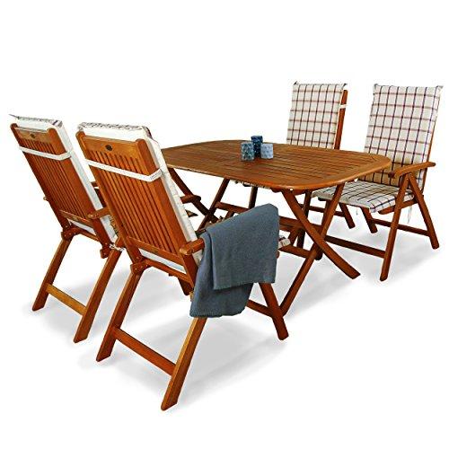 indoba ind 70063 base5 ind 70409 auhl serie bangor gartenm bel set 9 teilig aus holz fsc. Black Bedroom Furniture Sets. Home Design Ideas