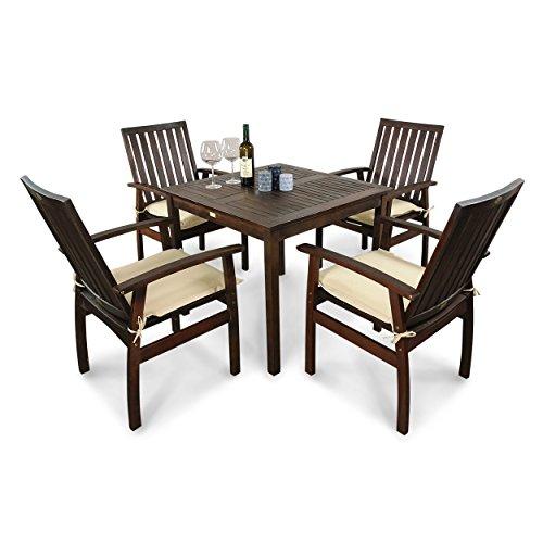 indoba ind 70080 prse5q ind 70454 ausk serie provence gartenm bel set 9 teilig aus holz. Black Bedroom Furniture Sets. Home Design Ideas
