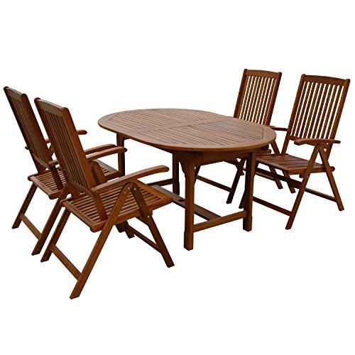 indoba ind 70300 ssse5 serie sun shine gartenm bel set 5 teilig aus holz fsc zertifiziert. Black Bedroom Furniture Sets. Home Design Ideas
