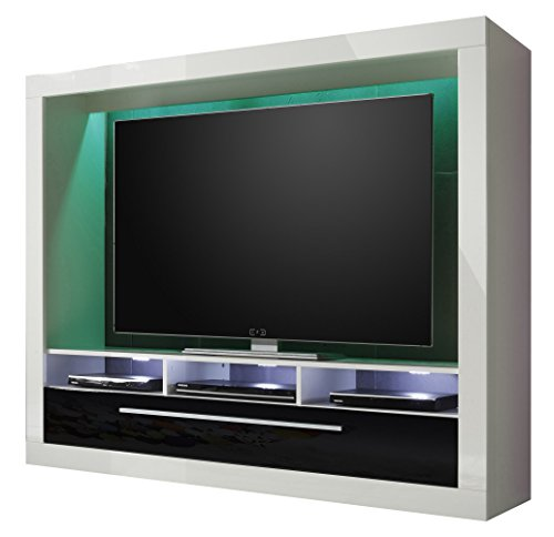 trendteam mx89502 wohnwand tv m bel weiss hochglanz bxhxt. Black Bedroom Furniture Sets. Home Design Ideas