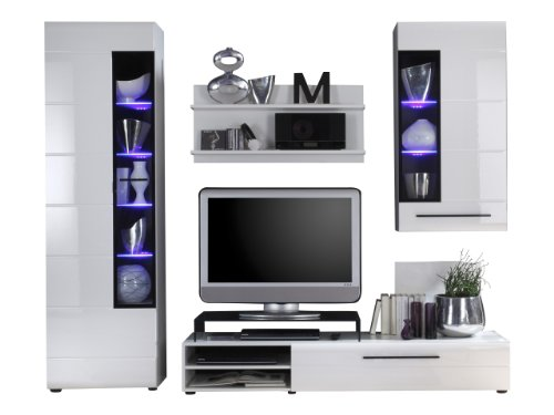 trendteam sn97302 wohnzimmerschrank wohnwand anbauwand. Black Bedroom Furniture Sets. Home Design Ideas