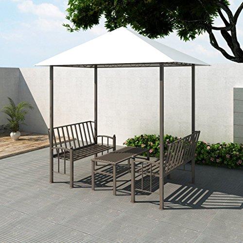vidaXL Garten Pavillon 2,5x1,5x2,4m Rosenbogen Gartenpavillon Gazebo Festzelt