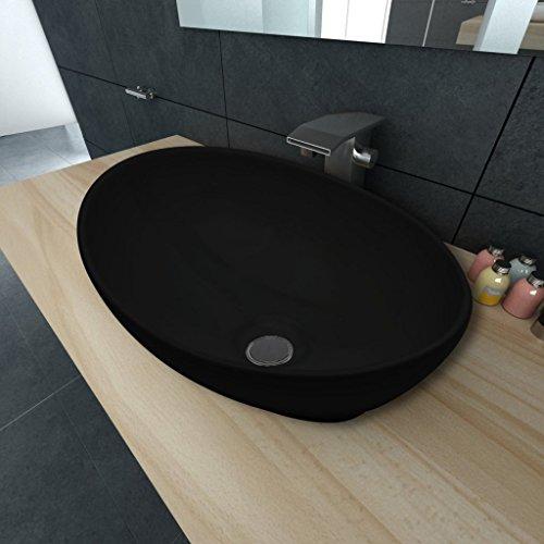 vidaxl keramik waschtisch waschbecken keramiksp len waschplatz bad oval 40x33cm m bel24. Black Bedroom Furniture Sets. Home Design Ideas
