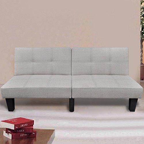 vidaXL Sofabett Sofa Bett Couch Schlafsofa Bettsofa Schlafcouch Bettcouth Beige