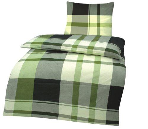 roller renforce bettw sche exclusiv gr n karo. Black Bedroom Furniture Sets. Home Design Ideas