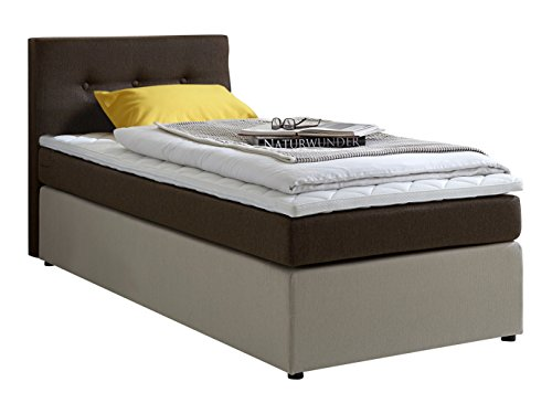 atlantic home collection rudi90 02 boxspringbett stoff liegeflche 90 x 200 cm braun 0 m bel24. Black Bedroom Furniture Sets. Home Design Ideas