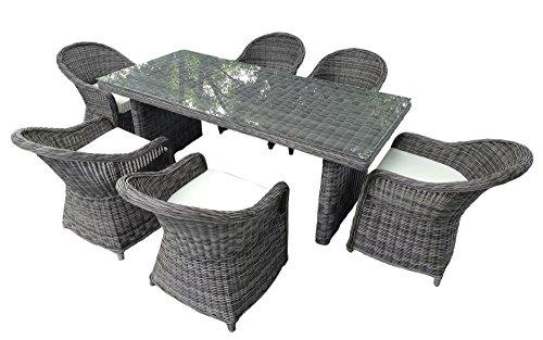 baidani gartenmbel essgruppe spring grau 0 m bel24. Black Bedroom Furniture Sets. Home Design Ideas
