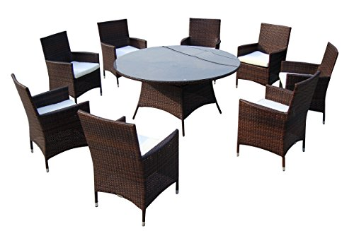 baidani gartenm bel sets designer lounge garnitur rondo 1 tisch mit glasplatte. Black Bedroom Furniture Sets. Home Design Ideas
