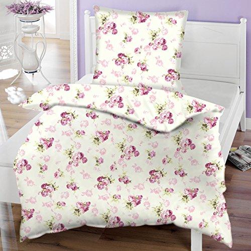 waldkind 889061 bettw sche set baumwolle rosenmuster 200 x 135 cm m bel24. Black Bedroom Furniture Sets. Home Design Ideas