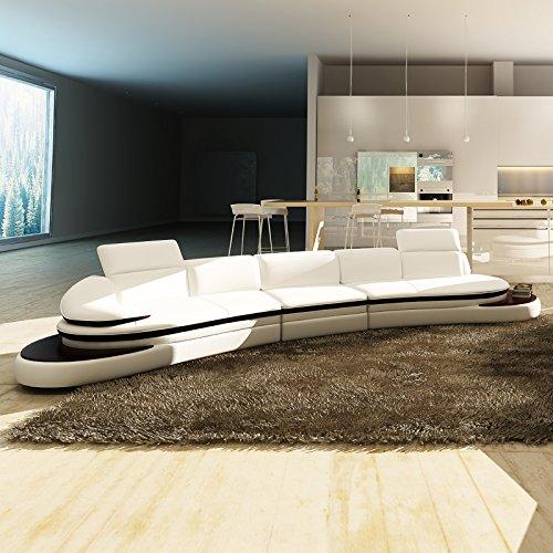 big sofa xxl couch leder pisa rundsofa wohnlandschaft teilleder farbwahl m bel24. Black Bedroom Furniture Sets. Home Design Ideas
