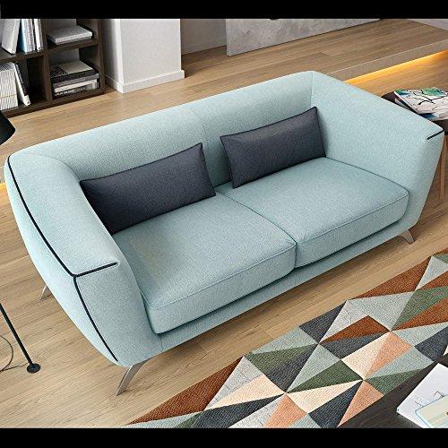 designer stoff sofagarnitur couchgarnitur 2 sitzer sofa couch polstersofa polstergarnitur. Black Bedroom Furniture Sets. Home Design Ideas