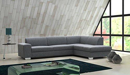 ecksofa elmo mit ottomane links in grau mit bettfunktion und staukasten abmessungen 280 x 220. Black Bedroom Furniture Sets. Home Design Ideas