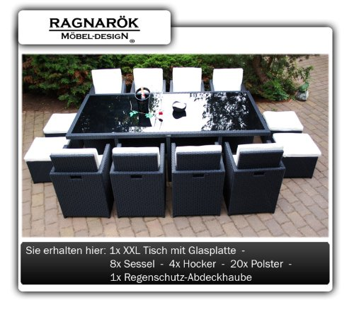 ragnar k m beldesign polyrattan essgruppe deutsche marke. Black Bedroom Furniture Sets. Home Design Ideas