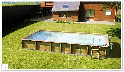 Rechteckiges Schwimmbecken aus Holz JARDIN CARRE 6x4