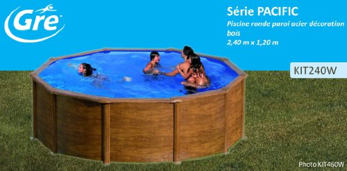 Gre kit240 w rund pool holz dekoration dim 240 h 120 for Pool dekoration