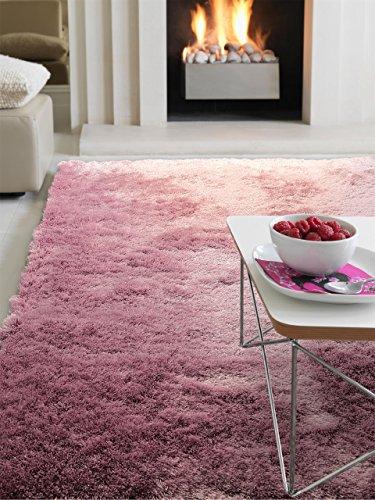 benuta Shaggy Hochflor Teppich Whisper Lila 160x230 cm   Langflor Teppich für Schlafzimmer und Wohnzimmer