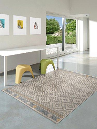 benuta outdoor teppich star geometrisch taupe 80x150 cm pflegeleichter teppich geeignet f r. Black Bedroom Furniture Sets. Home Design Ideas