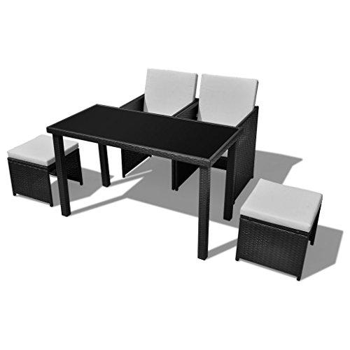 vidaxl gartenm bel poly rattan essgruppe gartenset gartengarnitur sitzgruppe m bel24. Black Bedroom Furniture Sets. Home Design Ideas