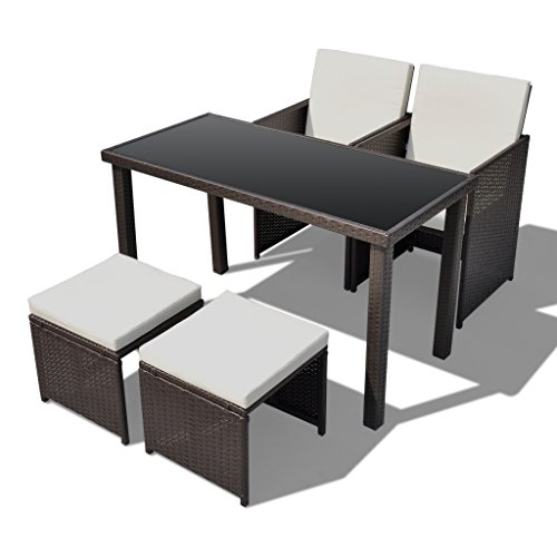 poly rattan gartenm bel essgruppe gartenset 2 st hle 2 hocker m bel24. Black Bedroom Furniture Sets. Home Design Ideas