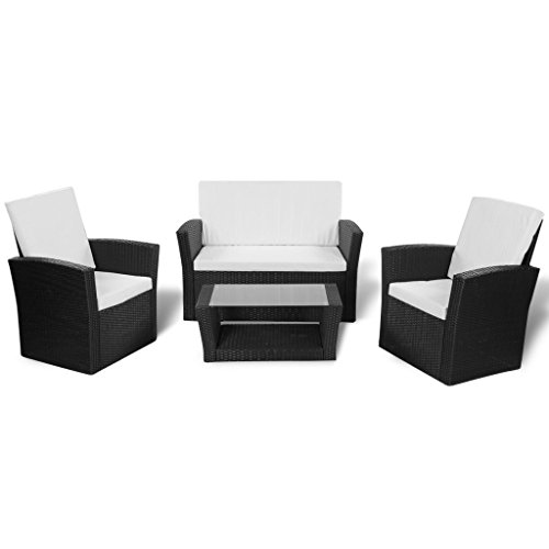 vidaxl gartenm bel poly rattan sitzgruppe lounge sessel gartenset sitzgarnitur m bel24. Black Bedroom Furniture Sets. Home Design Ideas