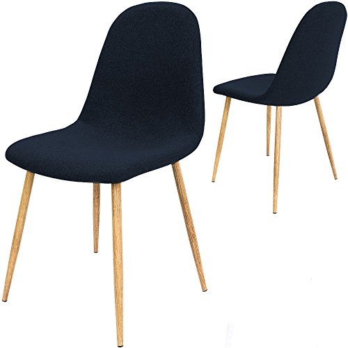 Gartenmobel Auflagen Gunstig : 4x Design Stuhl mit Stoffbezug dunkelblau – Esszimmerstühle Stühle