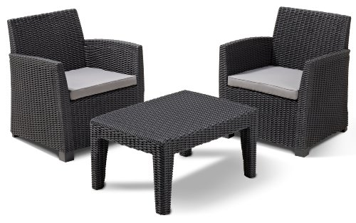 Allibert 212429 lounge set corona balcony 2 sessel 1 - Salon de jardin allibert hawaii lounge set ...