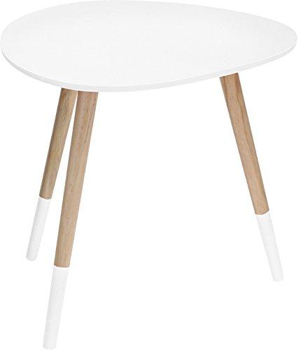 Beistelltisch Nierentisch C141 Weiß 48x40 cm Couchtisch Telefontisch